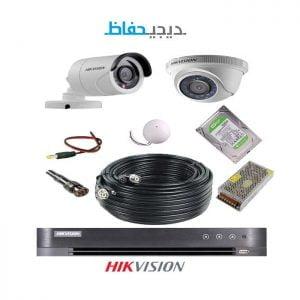 پکیج ۲ دوربین هایک ویژن مدل ۱Do1Bu-Digihefaz