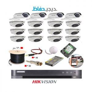 پکیج ۱۶ دوربین هایک ویژن مدل ۱۲Du4Bu-Digihefaz