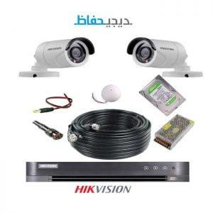 پکیج ۲ دوربین هایک ویژن مدل ۲Bu-Digihefaz