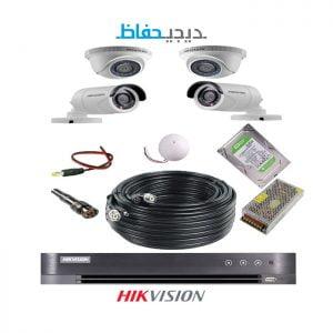 پکیج ۴ دوربین هایک ویژن مدل ۲Do2Bu-Digihefaz
