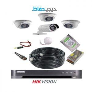 پکیج ۴ دوربین هایک ویژن مدل ۳Do1Bu-Digihefaz