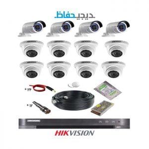 پکیج ۱۲ دوربین هایک ویژن مدل 8Do4Bu-Digihefaz