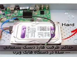 حداکثر ظرفیت هارد دیسک پشتیبانی شده در NVR و DVR هایک ویژن
